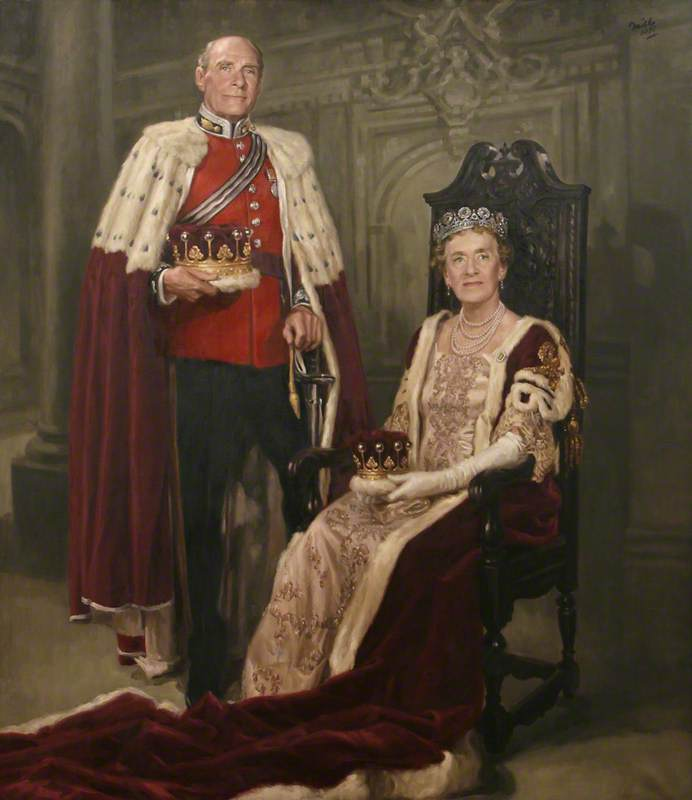 6th Earl and Countess of Mount Edgcumbe in Coronation Robes
