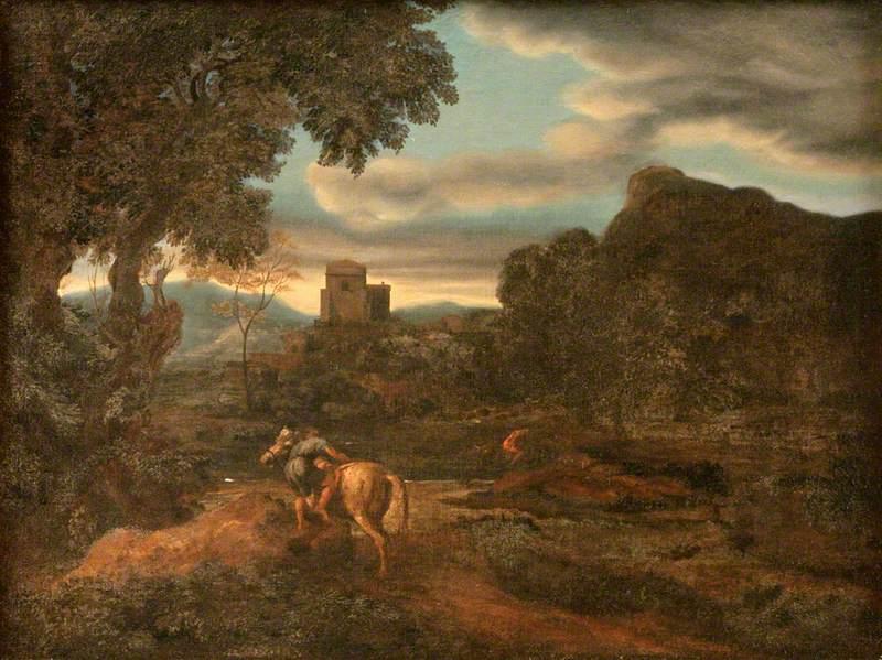 Landscape with Two Horsemen