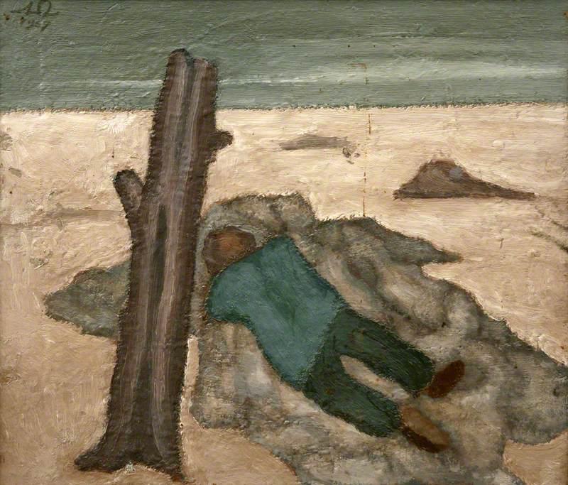 Figure and Tree Stump