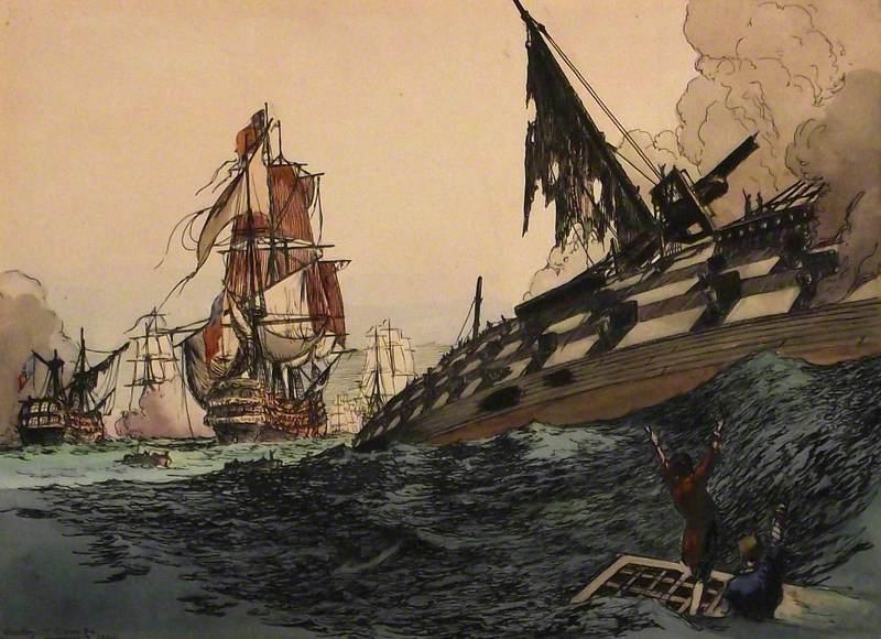 HMS 'Orion' at Trafalgar