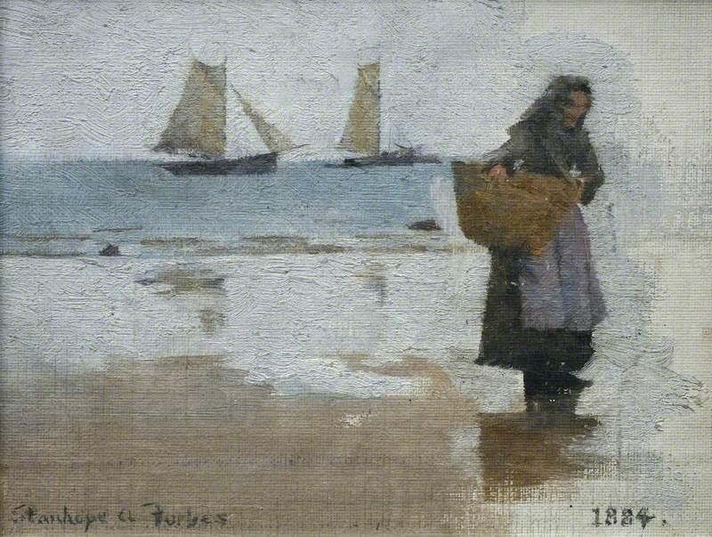 Study of a Fisherwoman