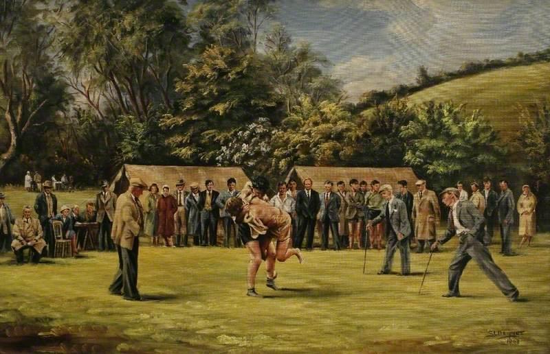 Cornish Wrestling: K. Hawkey vs. P. Sheldon