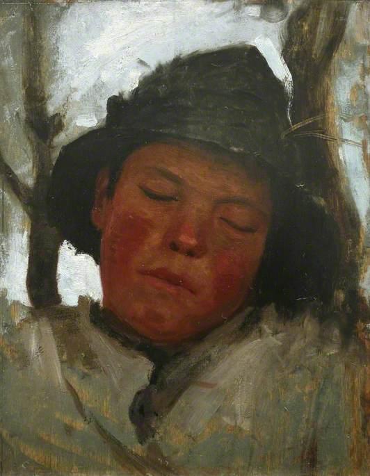 Boy Asleep in a Sou'wester