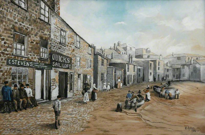 Harbour Front, the Wharf, St Ives, 1880