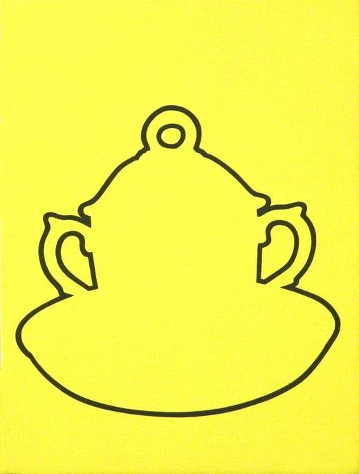 Yellow Chocolate Cup, Cover and Saucer