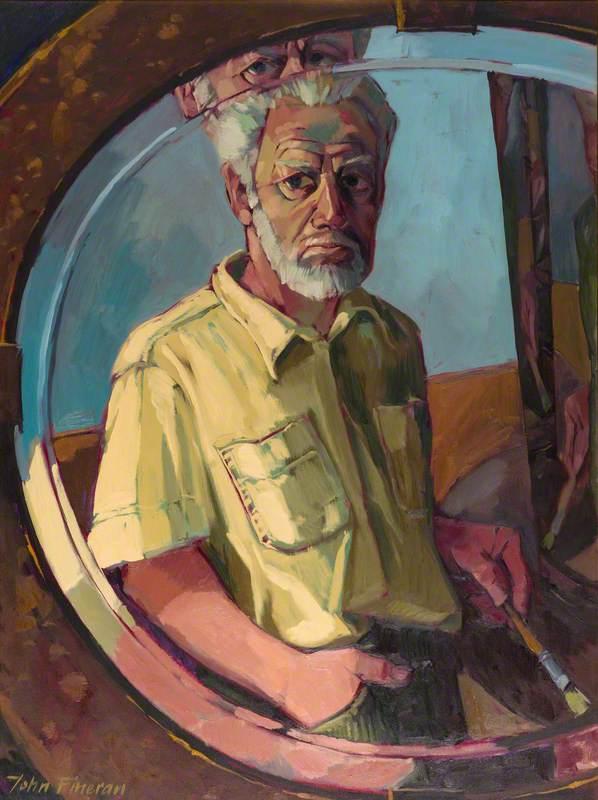 Self Portrait with Bevel Edge Mirror