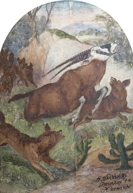 Hatwell's 'Gallopers': Wild Dogs Attacking Antelope