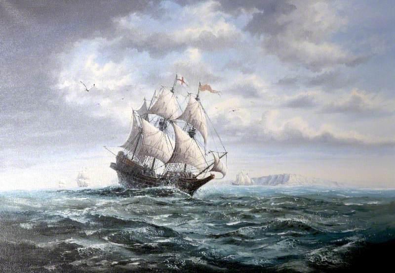 Brig Rounding a Cape
