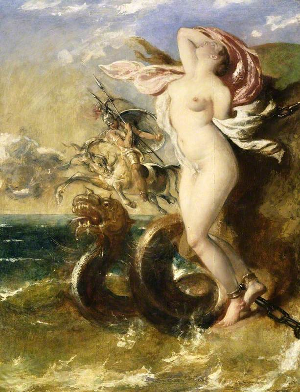 Andromeda, Perseus Coming to Her Rescue