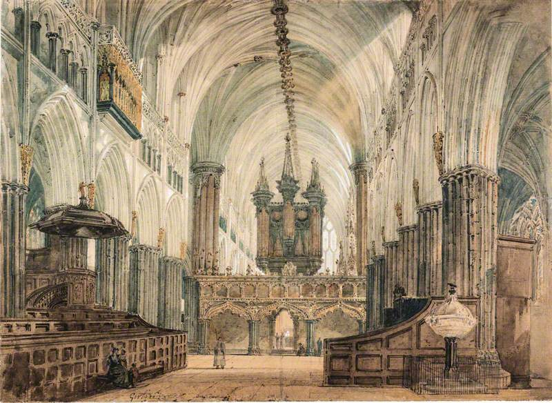 The Interior of Exeter Cathedral