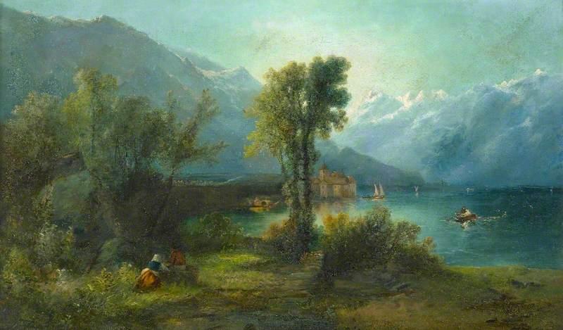 Swiss Lake Scene