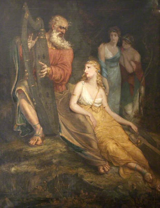 Ossian Relating the Fate of Oscar to Malvina