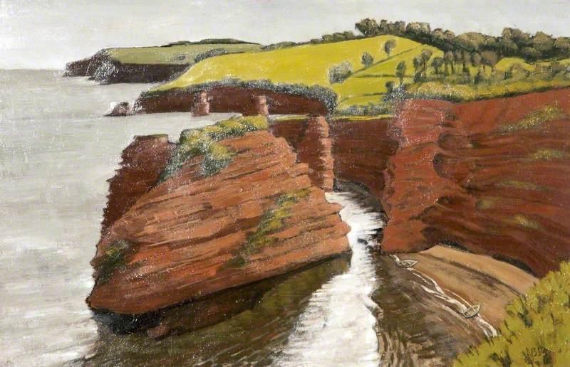 Sandstone Cliffs, Devon Coast, Ladram