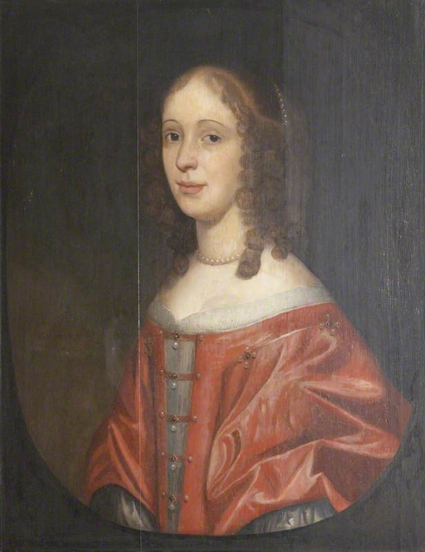 Portrait of a Young Girl in a White Dress and a Crimson Overwrap