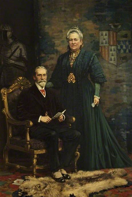 Sir Merton Russell-Cotes (1835–1921), and Lady Annie Russell-Cotes (1835–1920)