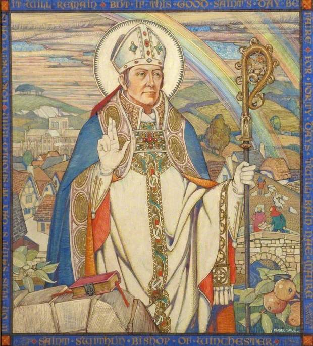 Saint Swithun, Bishop of Winchester