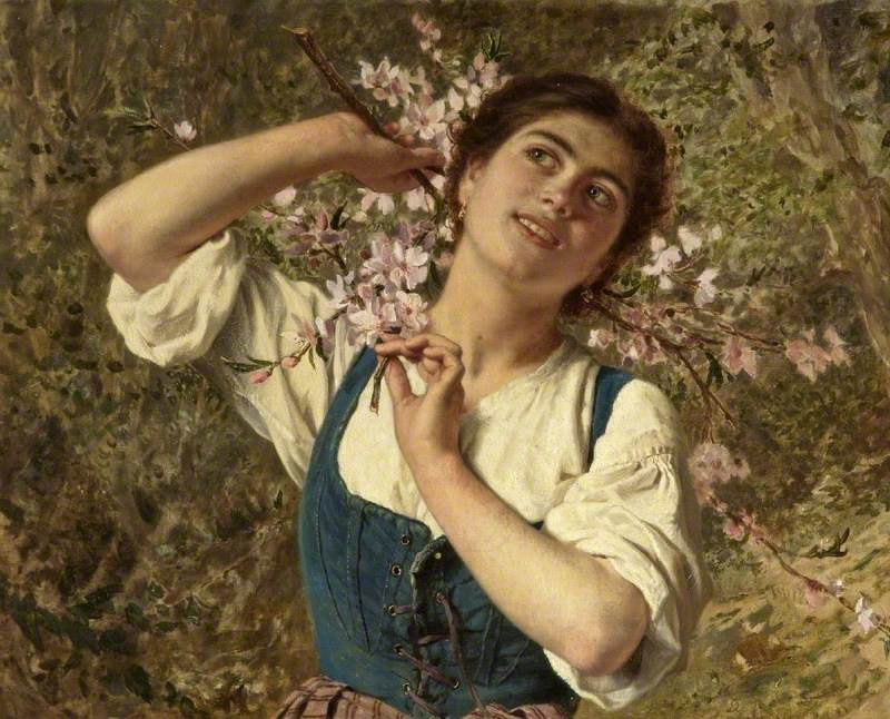 Capri Girl with Flowers