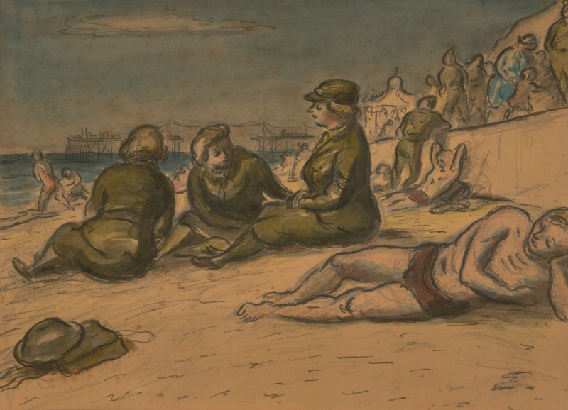 ATS Soldiers on the Beach, Bournemouth