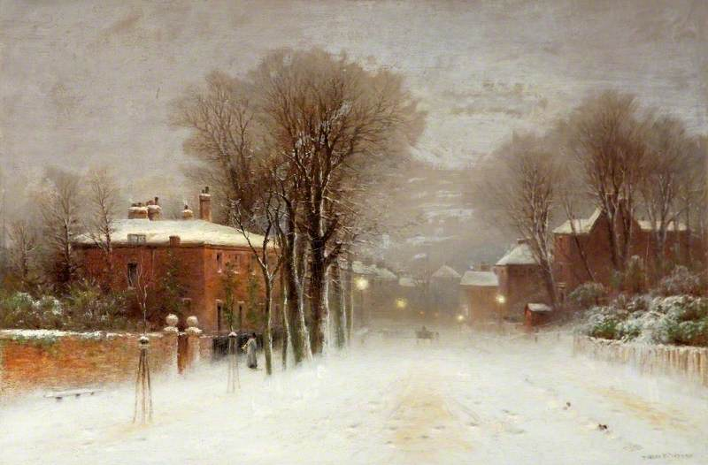 Winter Scene, Hampstead Heath, London