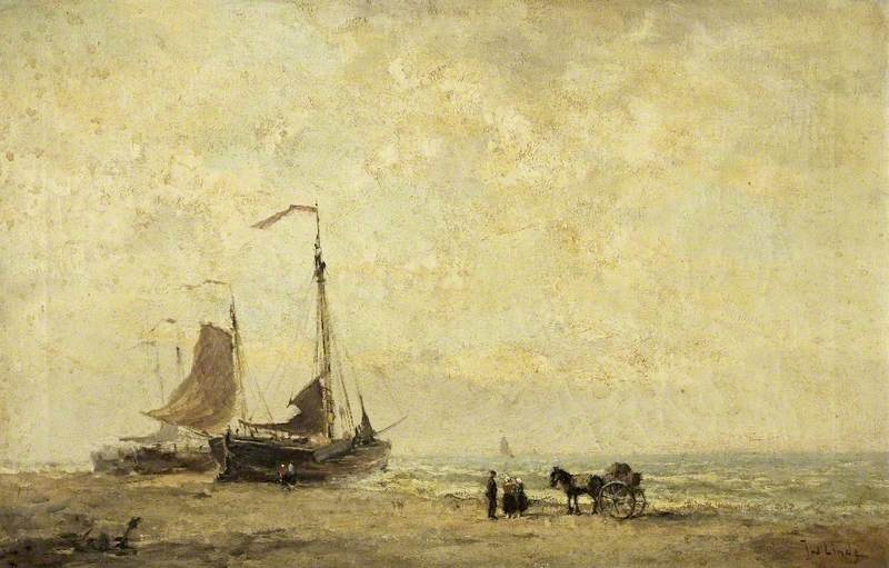 Dutch Seascape with Fishing Boats