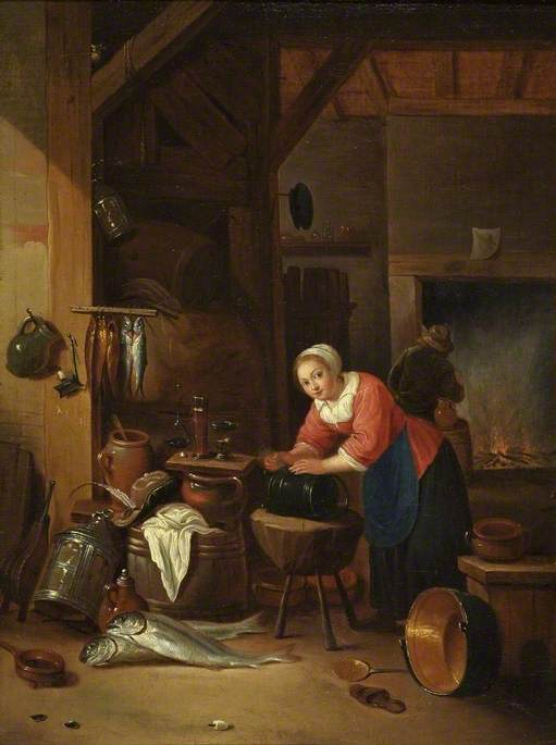 Interior with Women, Fish and Kettles
