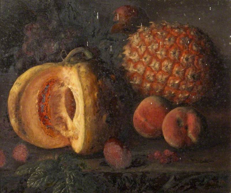 Still Life with a Pumpkin and a Pineapple