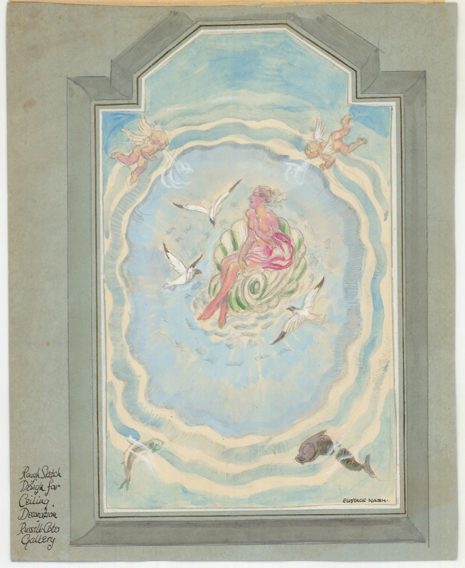 Rough Design Sketch for Ceiling Decoration, Russell-Cotes Art Gallery & Museum