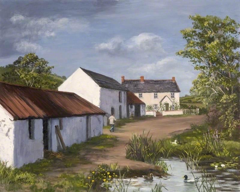 Farmhouse and Pond