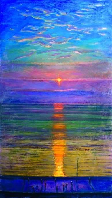 Steep Holm and Setting Sun