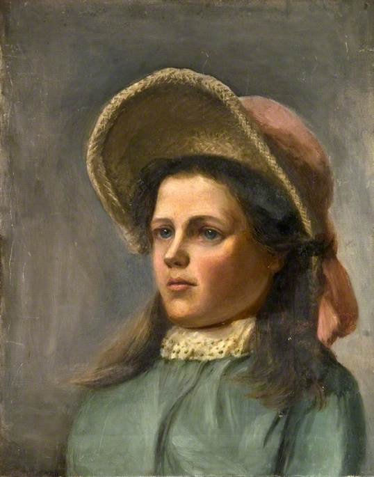 Portrait of a Young Girl in a Bonnet
