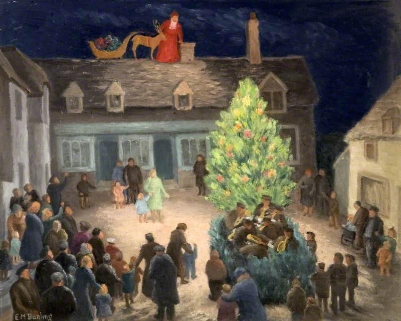 Christmas at Corfe Castle, Dorset