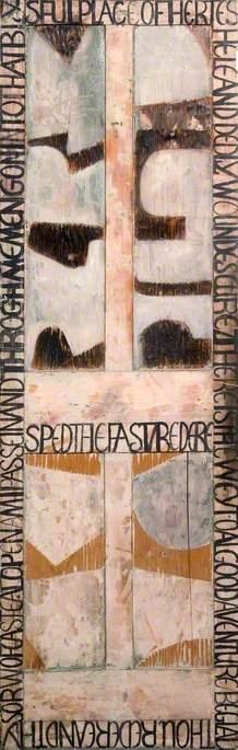 Studio Door for Robin Noscoe (1917–2002), Based on Chaucer's 'Philosophy of Fools'