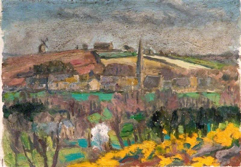 View of the Village of Guéhenno from Guillo, France