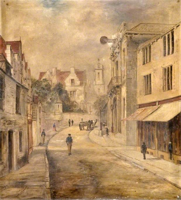High Street towards the Town Hall, Swanage, Dorset