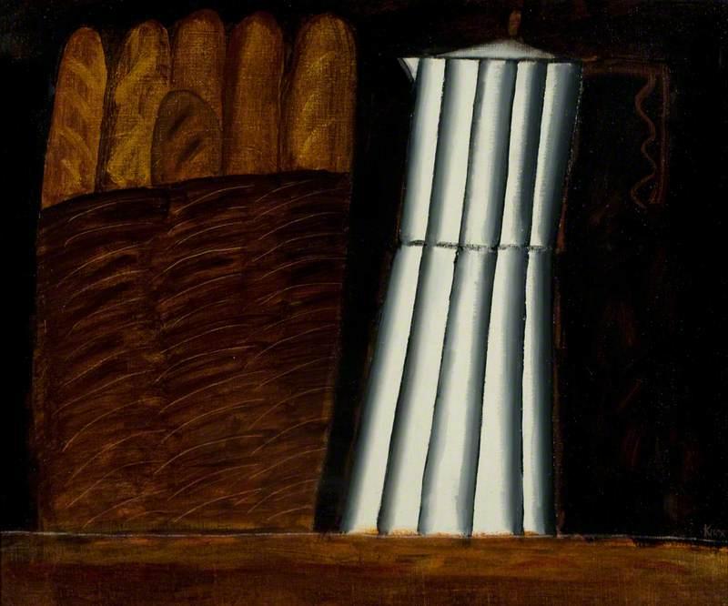 Cafetière and Bread Basket