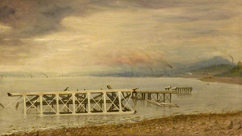 Wreckage from the Tay Bridge