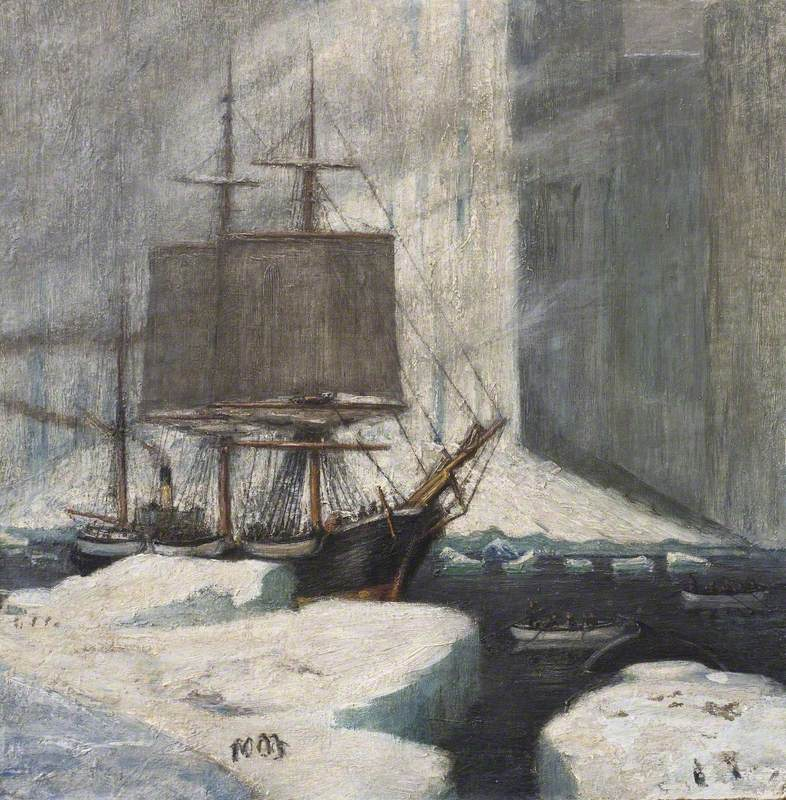 Whaler Moored to Ice