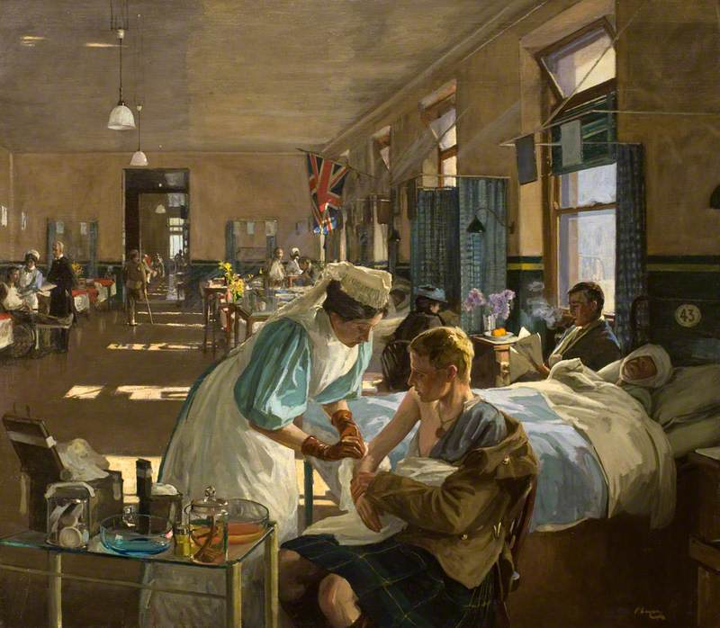 The First Wounded, London Hospital, August 1914