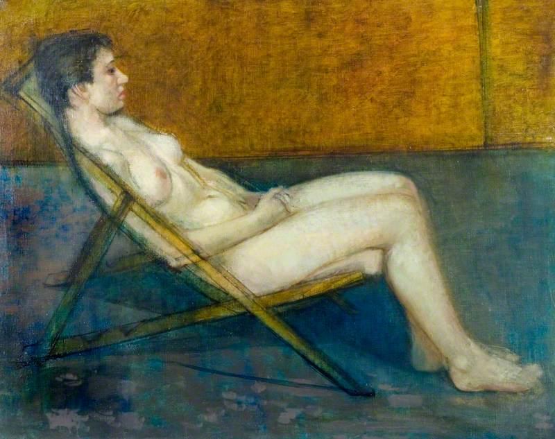 Nude on a Deckchair