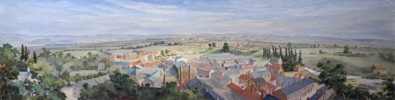 Panorama of South Church, Bishop Auckland, County Durham