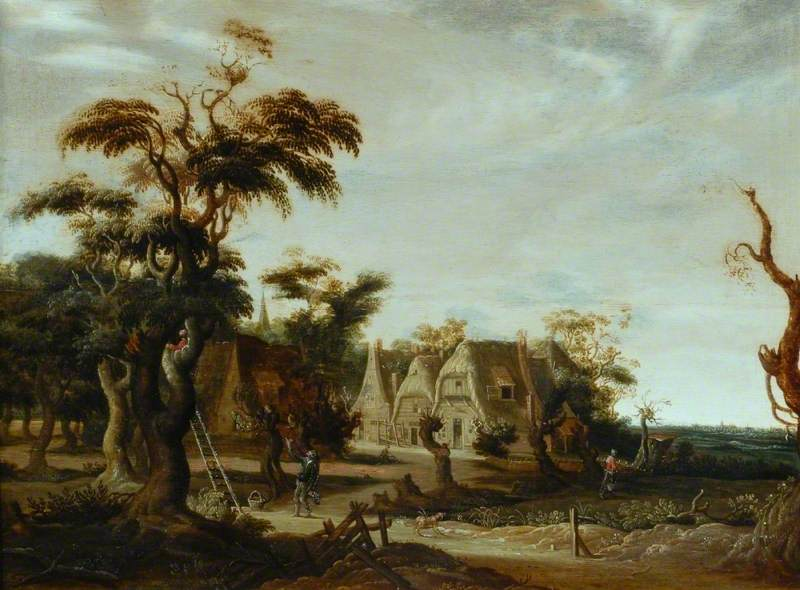 Landscape with Houses and Figures