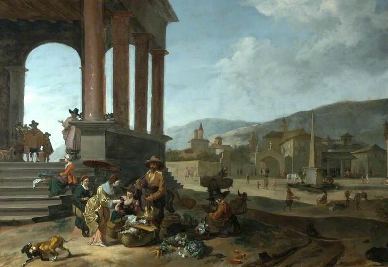 Italian Market Scene