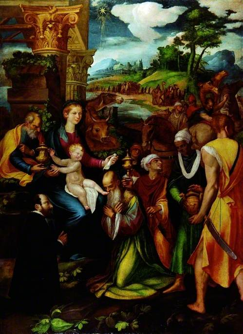 The Adoration of the Magi with a Donor
