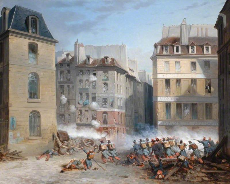 Incident of the Revolution of 1848 in Paris at the Corner of Rue St Jacques