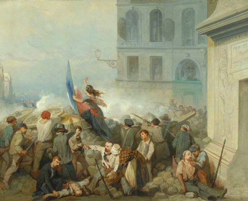 The Barricade at Porte St Denis, Paris 1848