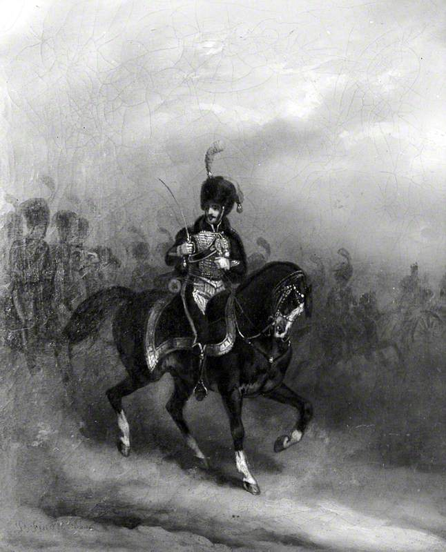A Cavalry Soldier on Horseback