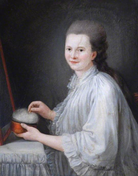 Portrait of a Lady at Her Toilet Table, Dressed in a Peignoir