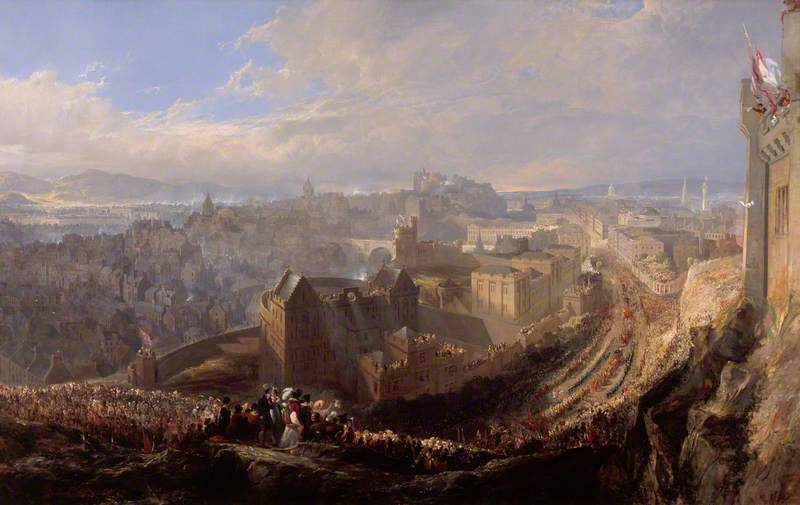 The Entry of George IV into Edinburgh from the Calton Hill, 1822