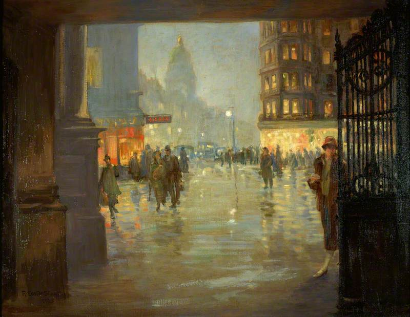 Maule's Corner after Rain, Edinburgh