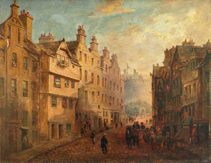 Castlehill, Edinburgh, As It Was before Alterations, c.1849